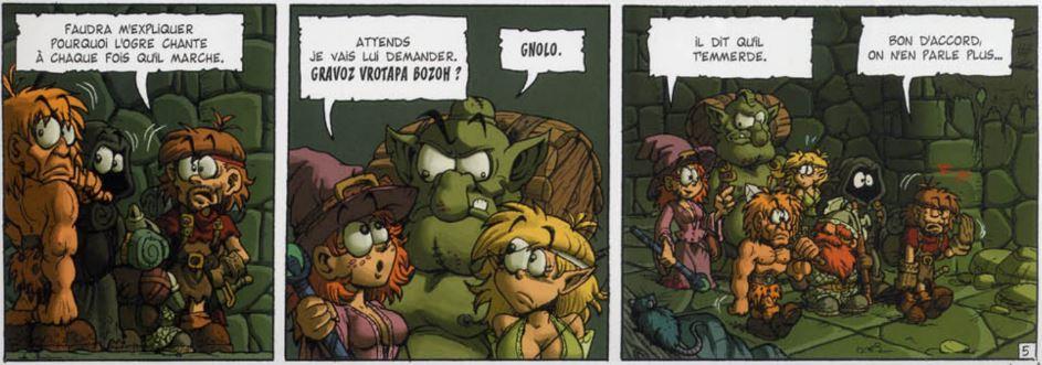 donjon de naheulbeuk ogre chante il dit qu'il temmerde