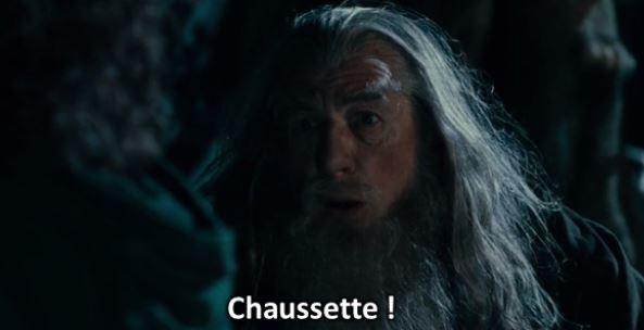 gandalf chaussette