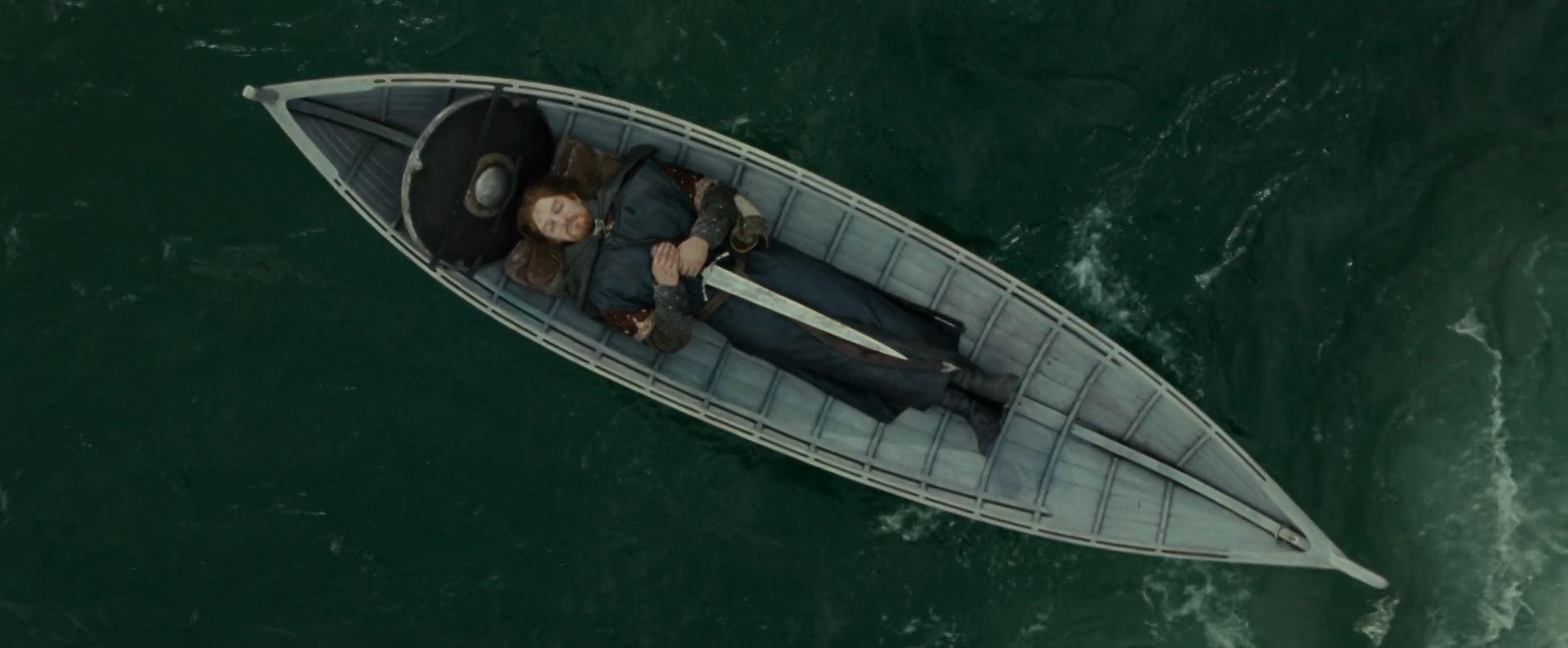 le seigneur des anneaux boromir barque mort