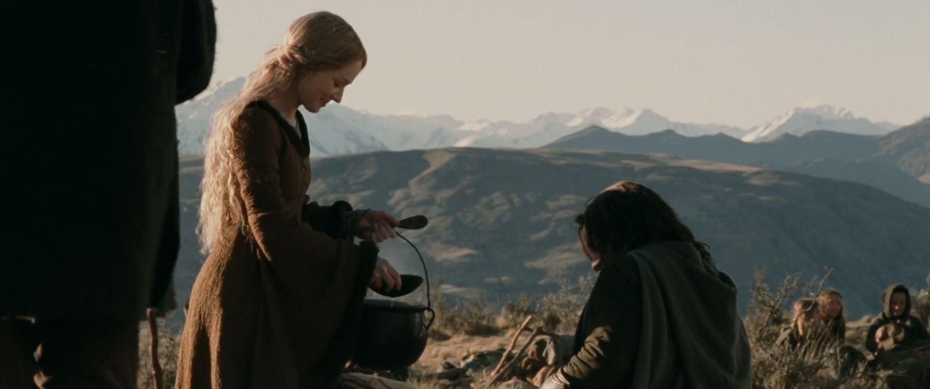 le seigneur des anneaux eowyn repas ragout aragorn