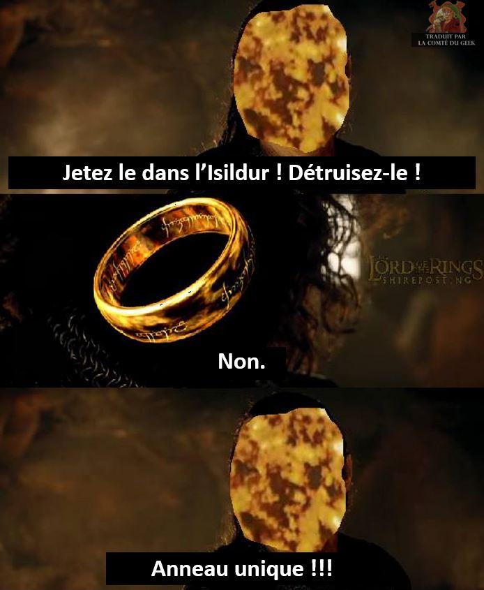 seigneur des anneaux meme isildur anneau unique