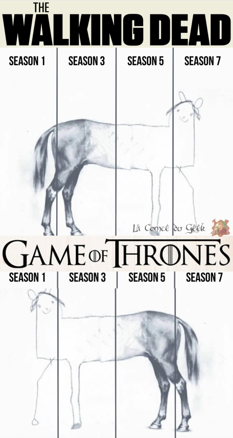 the walking dead game of thrones meme saisons