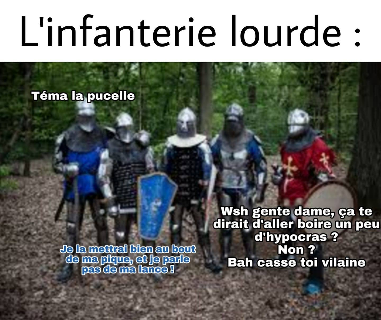 infanterie lourde medieval humour